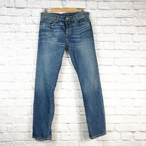 Levis 501 Straight Leg Mom Button Fly Jean